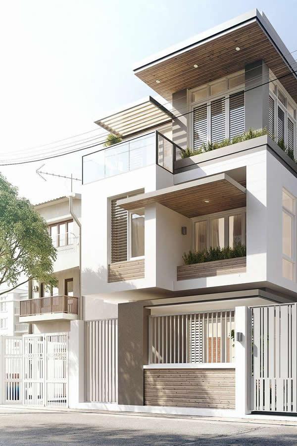 40 modelos incr veis de fachadas de sobrados - Fachadas viviendas unifamiliares ...