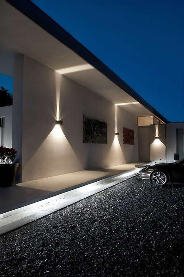 Arandelas externas 40 op es para decorar - How to design outdoor lighting plan ...