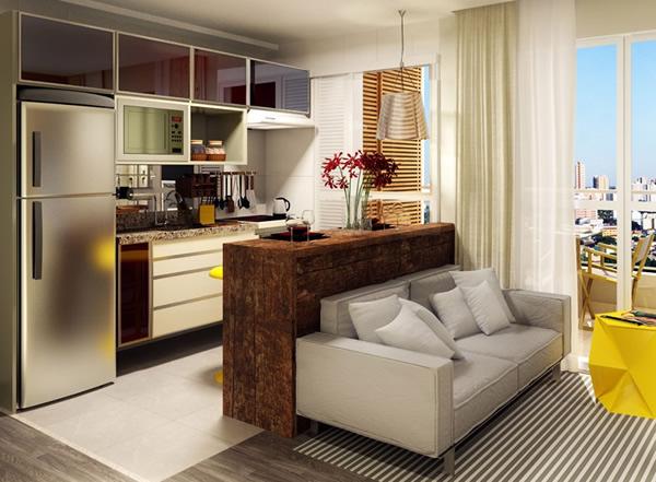 10 modelos de balc o de cozinha americana - Decorar salita de estar pequena ...