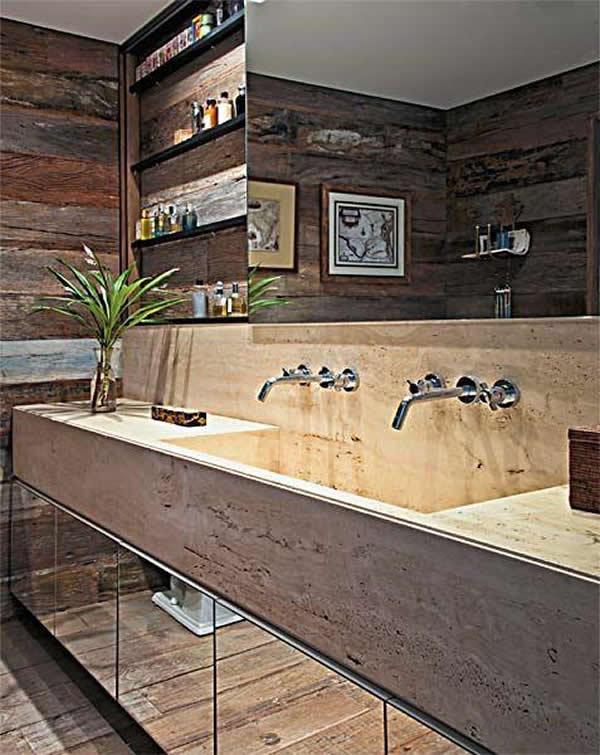 Mármore Travertino Preços, Tipos e Cores -> Gabinete De Banheiro Travertino