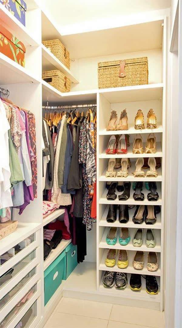 30 modelos de closets pequenos for Zapateras modernas para closet
