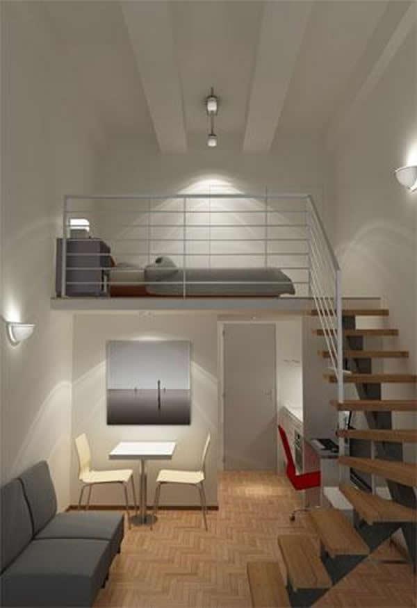 70 modelos de mezaninos incr veis para inspirar for Decoracion de loft pequenos