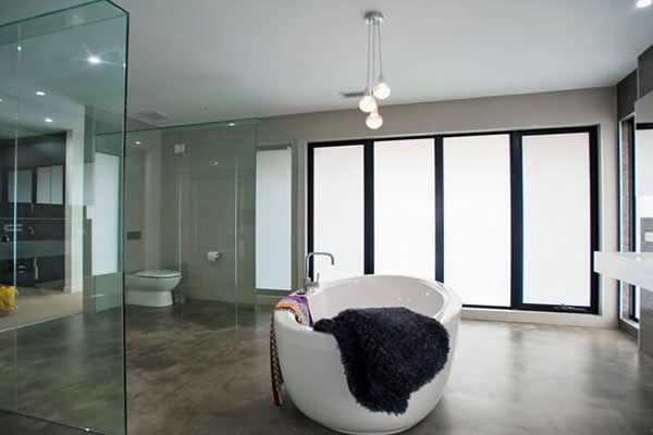 Banheiro Modernos Mais de 87 modelos inspiradores! -> Decoracao De Banheiro Com Cimento Queimado