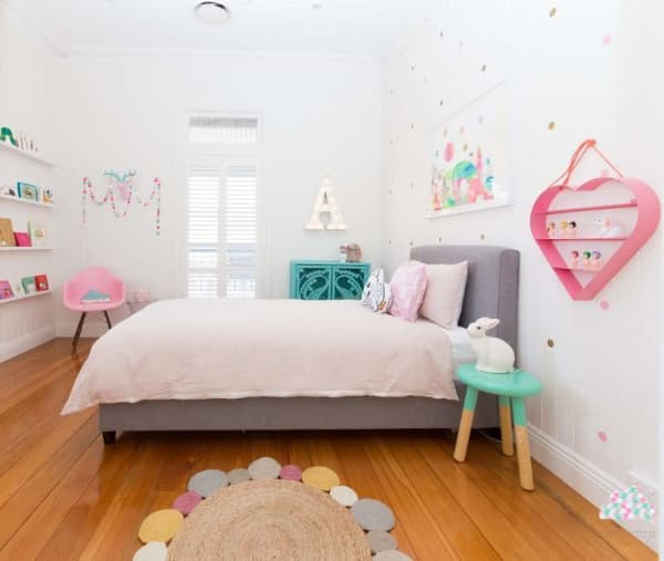 tapete de barbante quarto criança moderno
