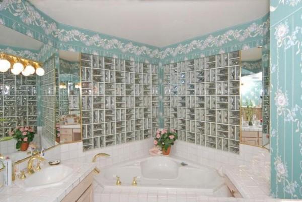 Como assentar tijolos de Vidro -> Decoracao Com Tijolo De Vidro No Banheiro