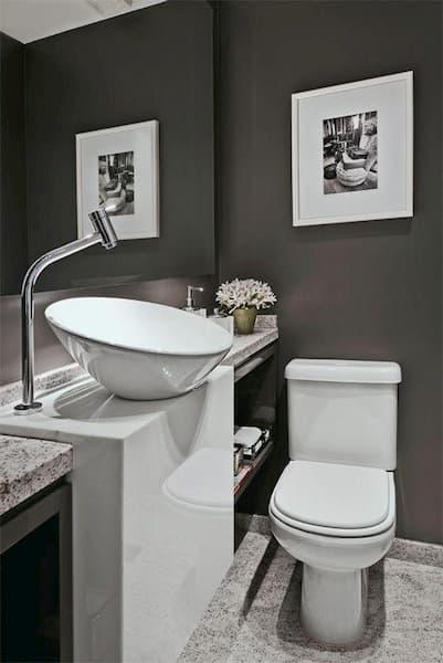 bancada banheiro mistura do granito e o mármore