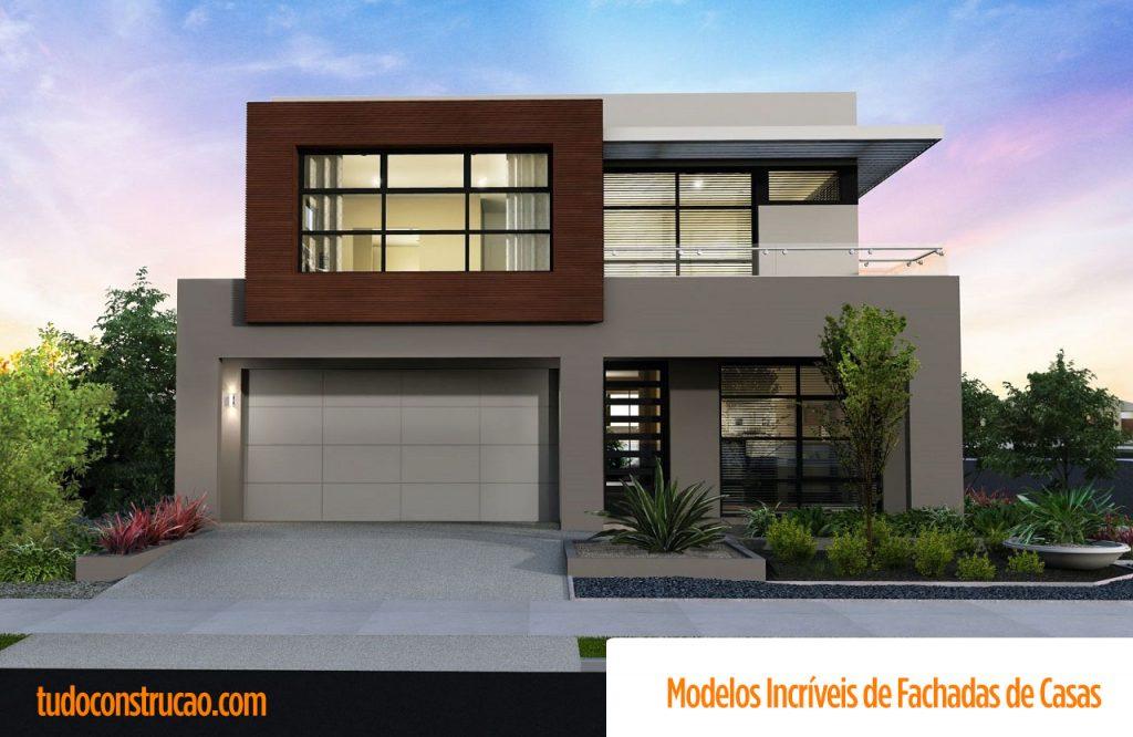 Fachadas de casas 2018 100 modelos para lhe inspirar for Modelo de fachada de casa