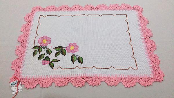 Bico de crochê para toalha de mesa