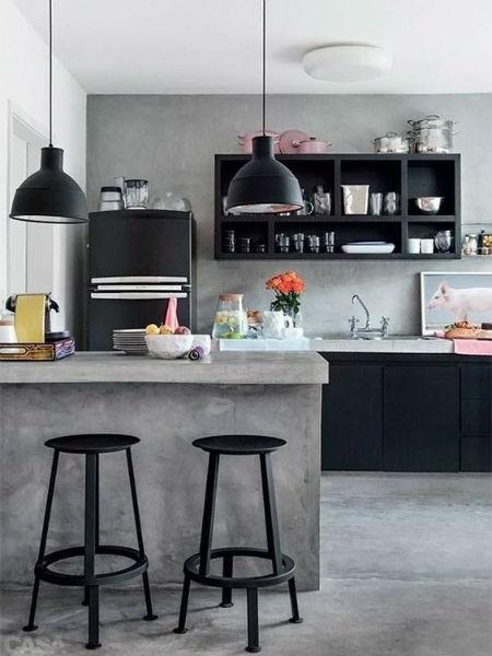 cozinha americana estilo industrial