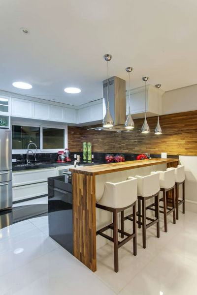 cozinha americana moderna estilosa