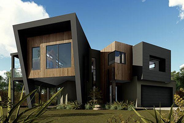 15 modelos de fachadas de casas de dois andares for House designs for corner blocks