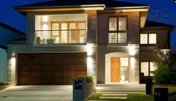 15 modelos de fachadas de casas de dois andares for Fachadas de casas modernas a desnivel