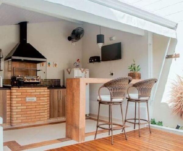 edicula com churrasqueira para ambientes pequenos