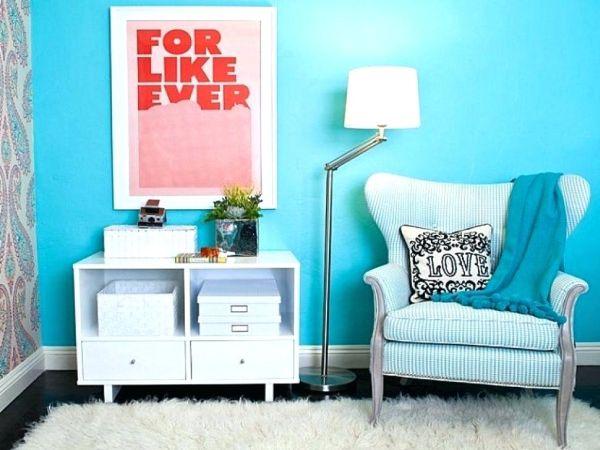 decoração azul turquesa