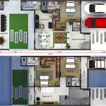 10 Plantas de Casas Geminadas de 2 Pavimentos
