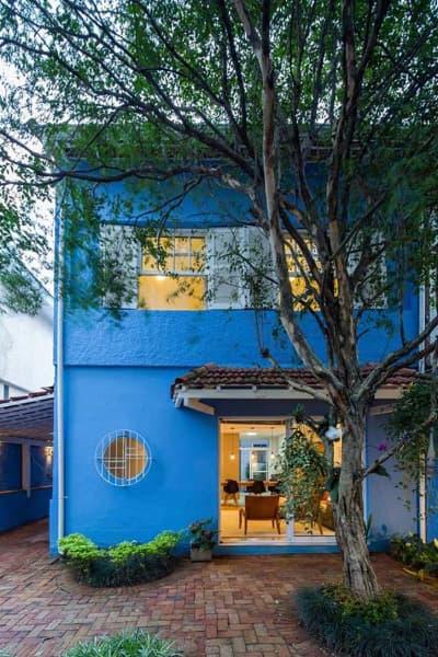 Planta de casa com arquitetura simples