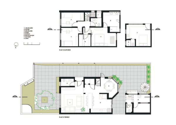 projeto da planta de casa com arquitetura simples