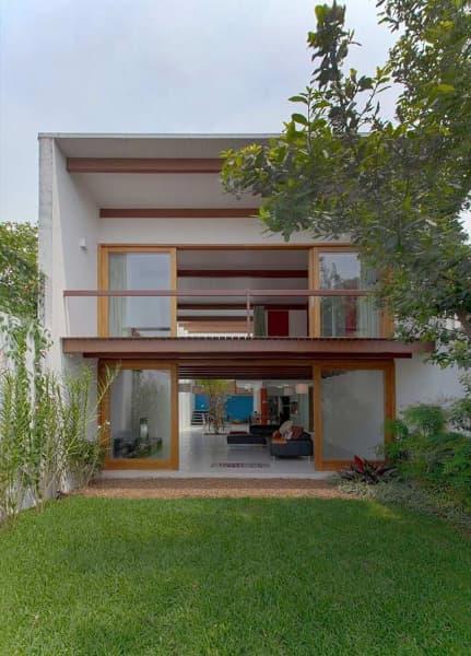 projeto de casa terrea estreita