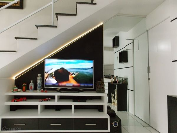 Sala com escada 30 modelos para sua casa for Modelos de salas de casa