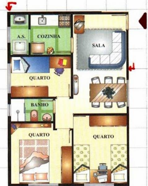 Projeto de casa Pequena para 5 pessoas