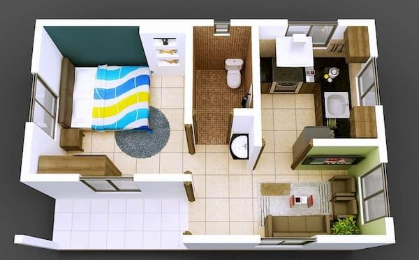 Projeto de casa simples e espaçosa