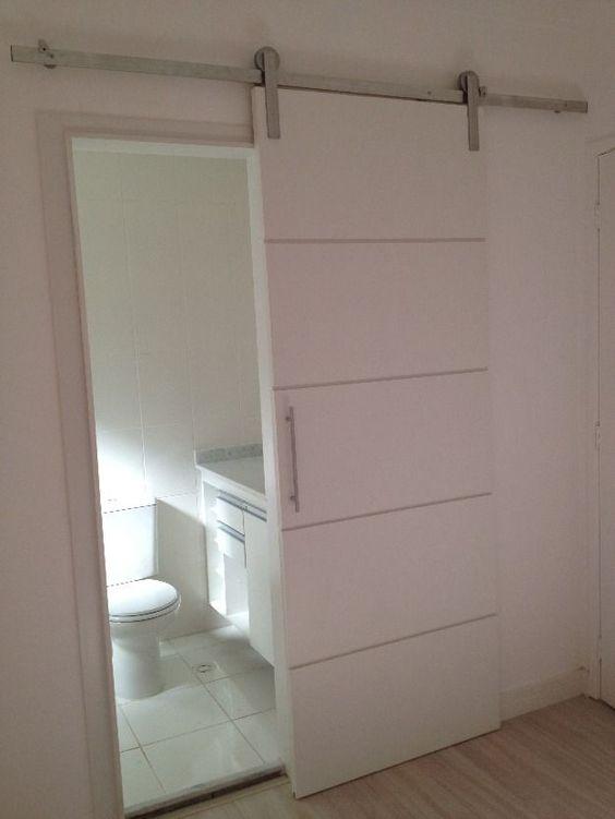 porta de correr para banheiro
