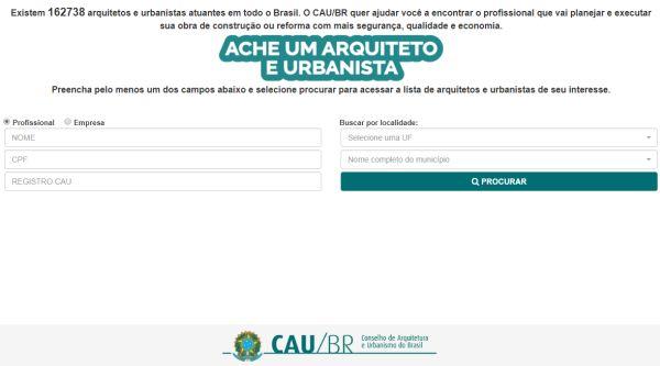 consultar registro Arquiteto e Urbanista