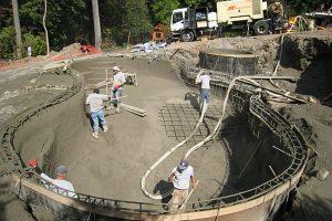 material construção piscina