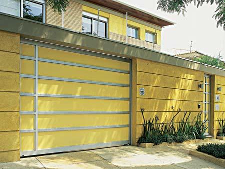 Modelo de Muro com Faixas na Cor Amarelo
