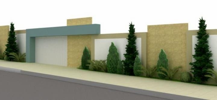 Projeto de Muro com Arvores
