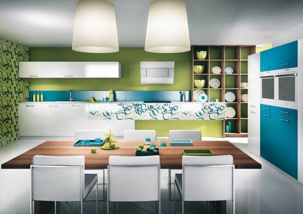 cozinha moderna cmo cores fortes
