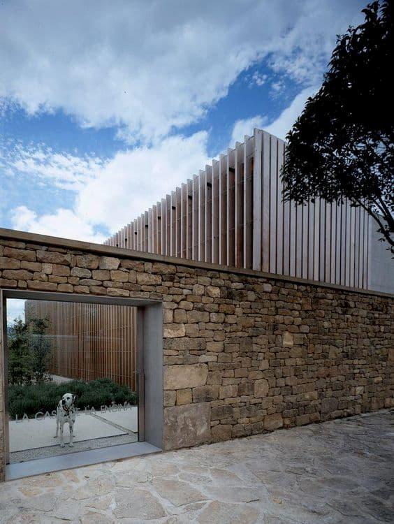 muro de pedra para casas