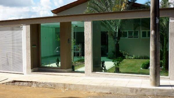 muro de vidro para casas