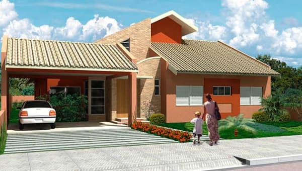 projeto de fachada para casa com jardim