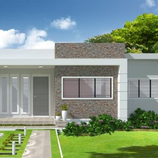 projeto fachada para casa moderna condominio