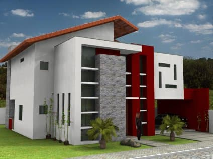 projeto fachada para casa moderna