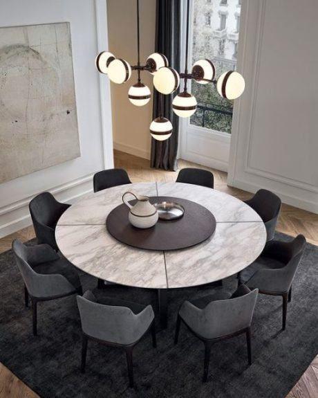 mesa redonda de jantar