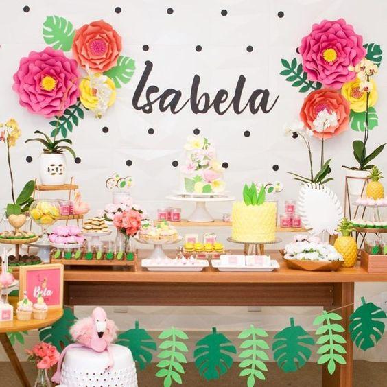 mesa festa tropical