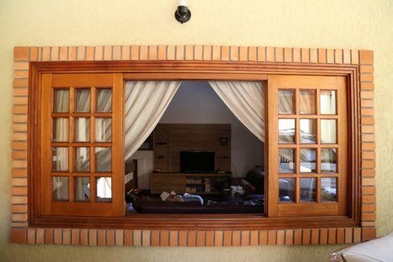 Modelos de janelas de madeira para casa