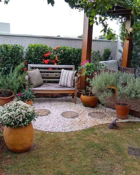 decoração de quintal