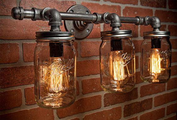 luminárias estilo industrial