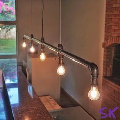 luminária estilo industrial