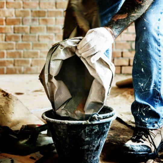 cimento ou argamassa