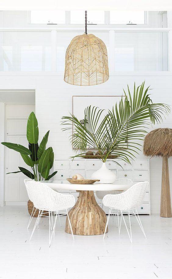 decoração tropical chique