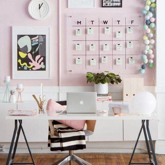 decoração tumblr home office