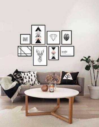 decoração tumblr sala