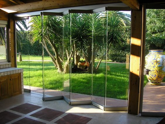 portas de vidro
