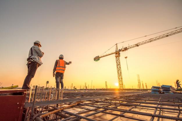construção steel frame