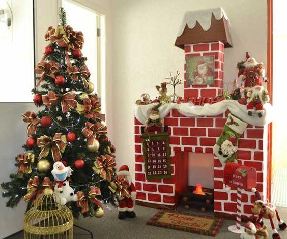 decoração de natal para lareira