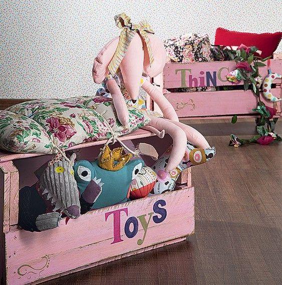 caixote de feira na decoração